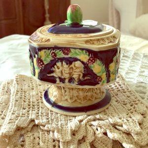 Vintage Ancient Primitive Pottery Crock